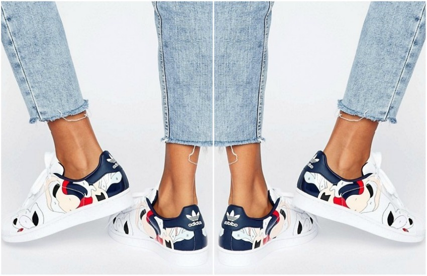 adidas Originals X Rita Ora Paint Print Superstar Trainers £80.00