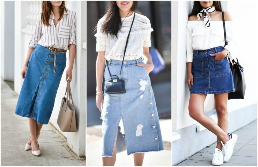 8 prijedloga kako nositi traper suknju na stylish način