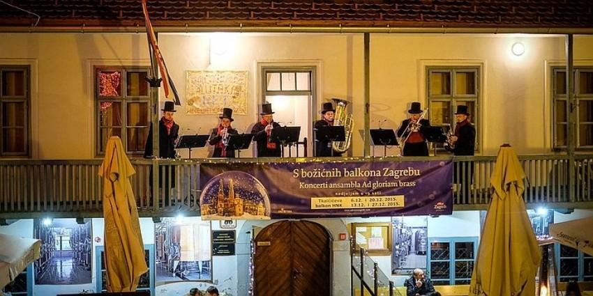 S božićnih balkona Zagrebu - Koncerti Ad gloriam brass