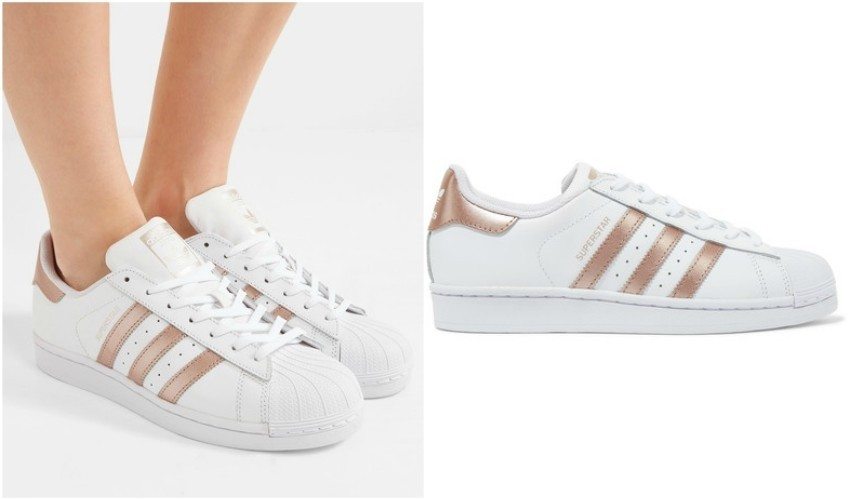 ADIDAS ORIGINALS Superstar metallic-trimmed leather sneakers£75