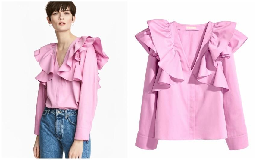 H&M Ruffled blouse 39,99 €