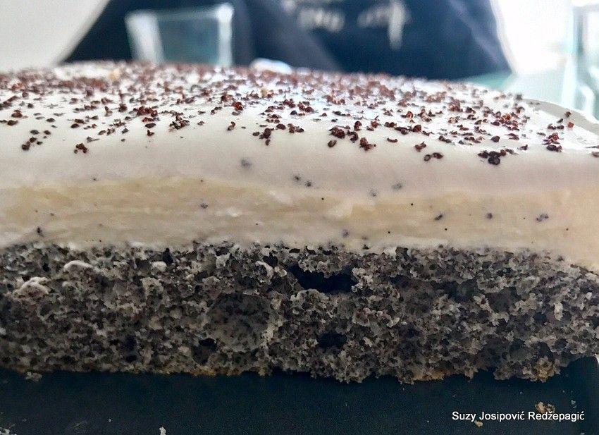 Torta od maka i kreme od vanilije