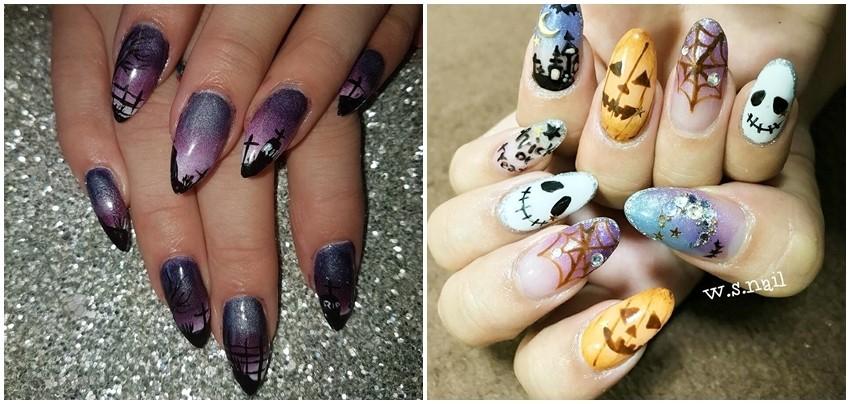 Halloween nokti