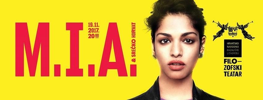 M.I.A. najavljena kao prva gošća nove sezone Filozofskog teatra