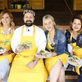 Chef Mario Mihelj i Nevena Rendeli, Ana Begić i Doris Pinčić