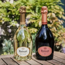 Ruinart blanc de blanc and rose