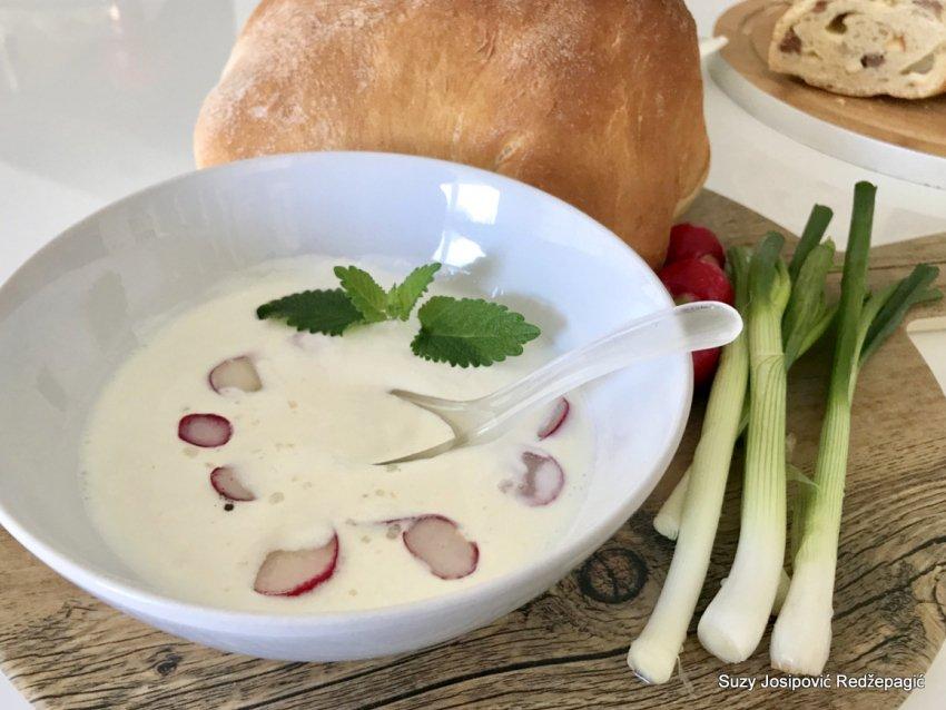 Salata od hrena, rotkvica i vrhnja