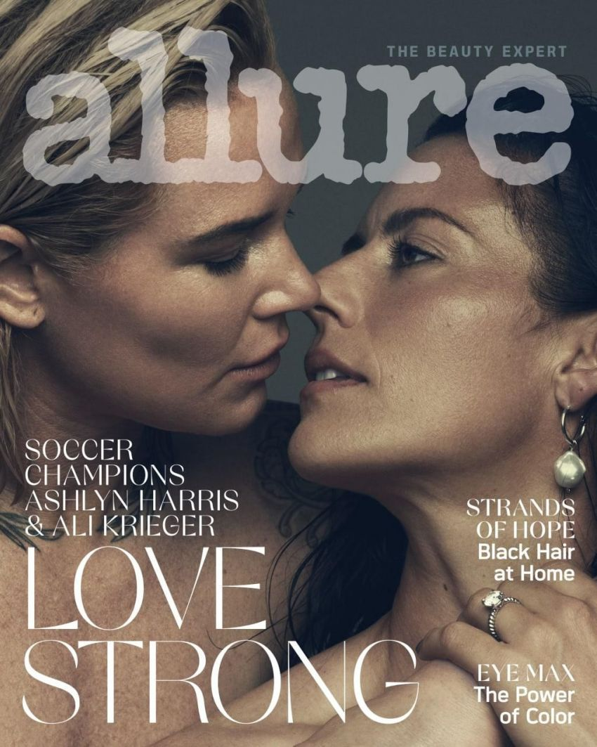 Ashlyn Harris and Ali Krieger on the August 2020 issue of Allure
