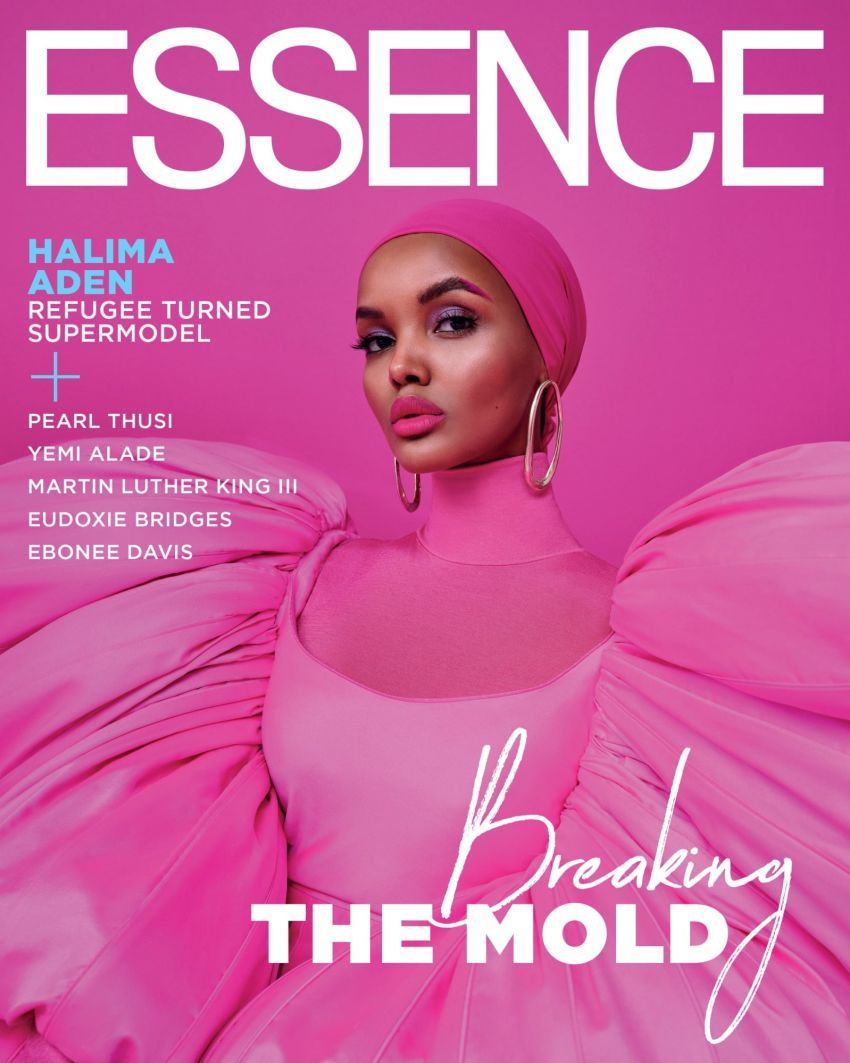 Halima Aden on the January/February 2020 issue of Essence
