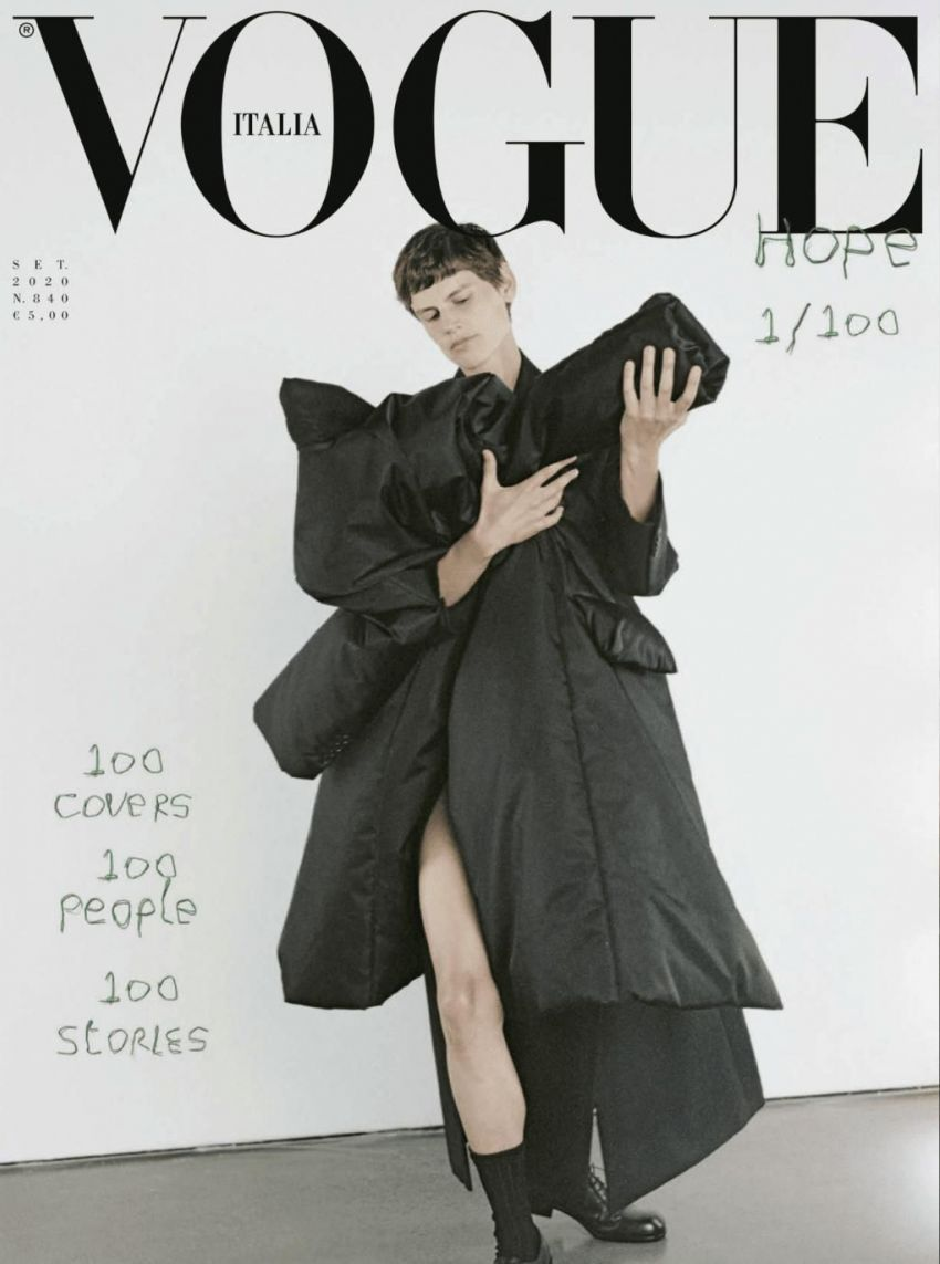 100 people on the September 2020 issue of Vouge Italia