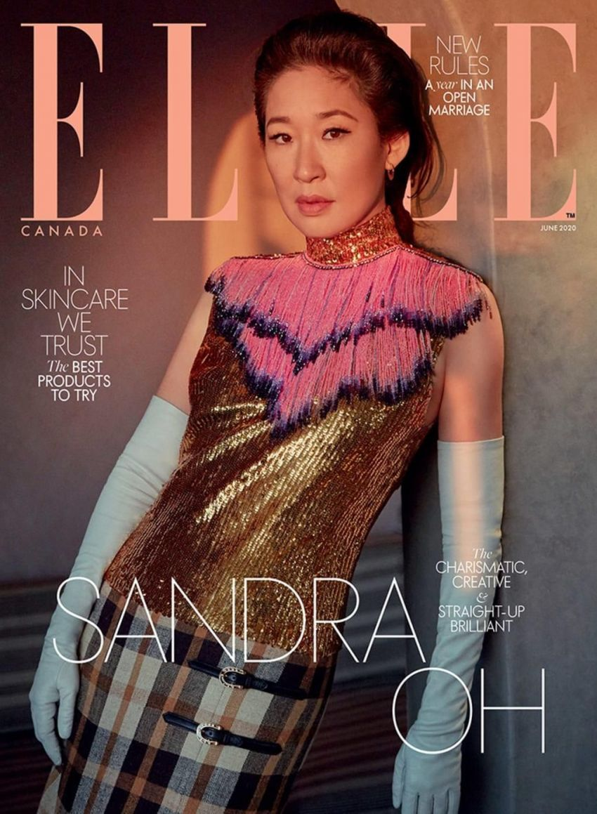 Sandra Oh on the June 2020 issue of Elle Canada