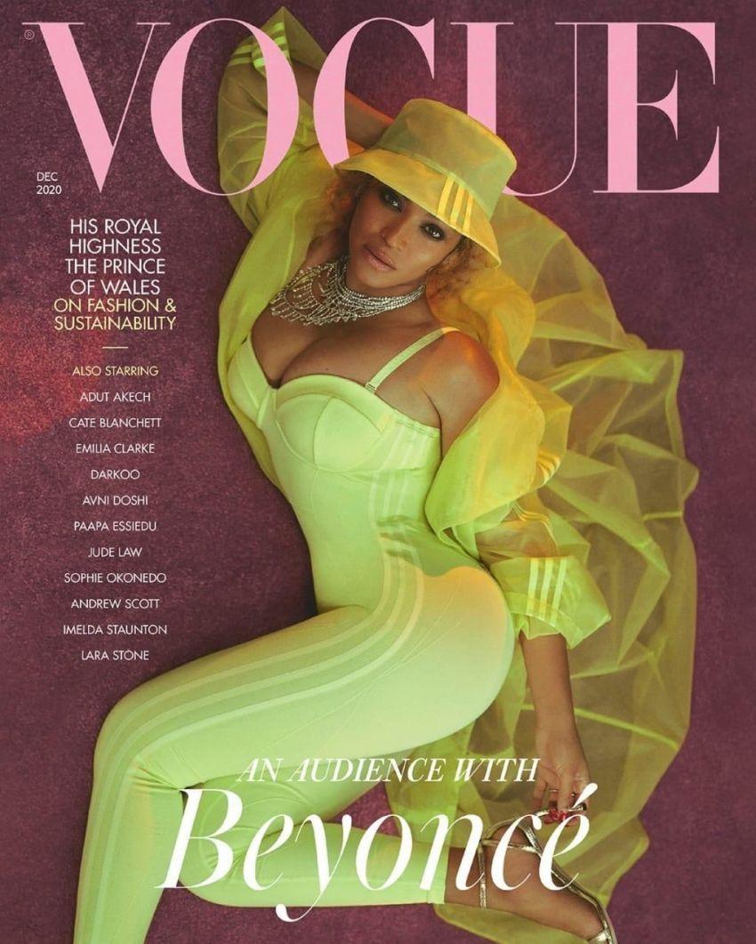 Beyoncé on the December 2020 issue of Vouge U.K.