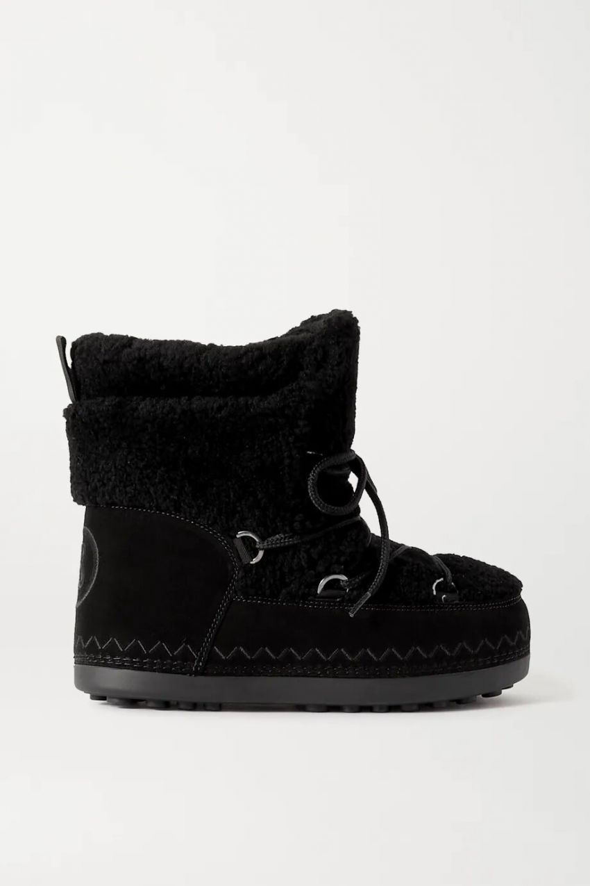 Bogner Trois Vallées 15A suede and shearling snow