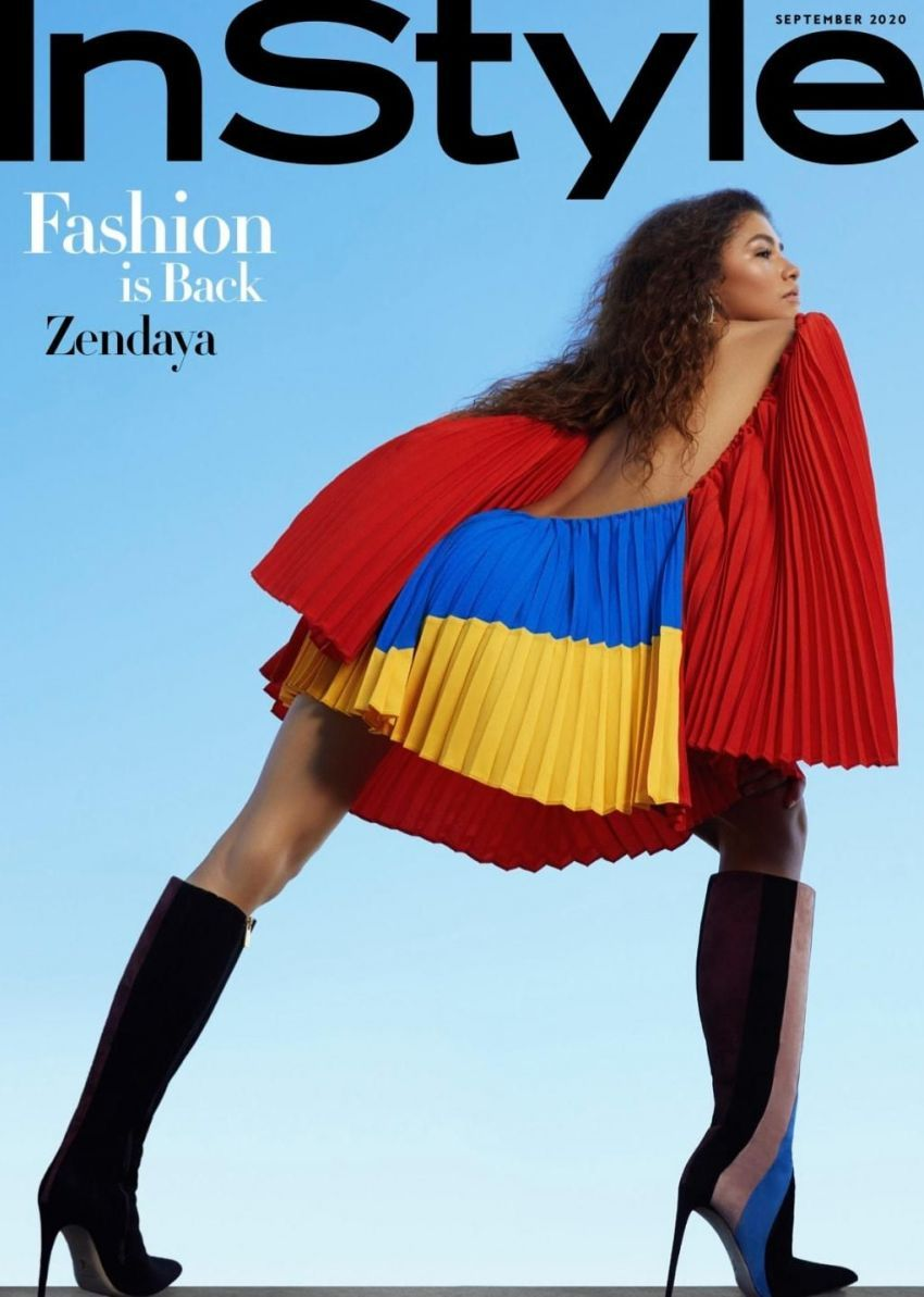 Zendaya on the September 2020 issue of InStyle U.S.